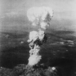 The atomic mushroom cloud over Hiroshima. Fucking hell.