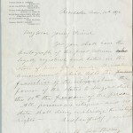 A letter from Susan B. Anthony, celebrating her registration and vote