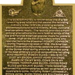 The Robert Johnson Commemorative Plaque at the Gunter Hotel
