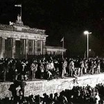 Celebrations as the Berlin Wall falls
