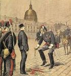 Depiction of the public degradation of Captain Alfred Dreyfus