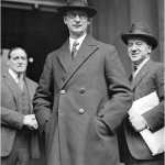Éamon de Valera at the inauguration of the new Irish Constitution