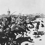Bloody Sunday outside the Winter Palace