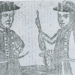 Engraving depicting Daniel Shays (left) and fellow rebel Job Shattuck