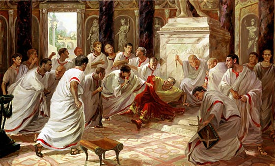 the conspirators behind caesars death Conspiracy took caesar's bloody robes onto the steps of the temple where they  proclaimed that the tyrant  historians have either viewed caesar's  assassination as justified because he was a dictator,  behind it from a roman  perspective.