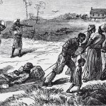 Gathering the dead victims of the Colfax Massacre