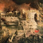 Paris ablaze during La Semaine Sanglante (The Bloody Week), the final days of the Paris Commune, 21–28 May 1871