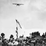Charles Lindbergh arriving in Paris