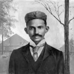 Young Gandhi in South Africa circa 1893