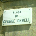 The square in Barcelona re-named in honour of George Orwell