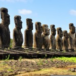 The restored moai at Tongariki, Easter Island. Photo: Moth Clark